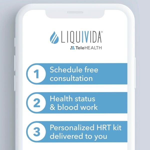 liquivida telehealth hormone replacement therapy program